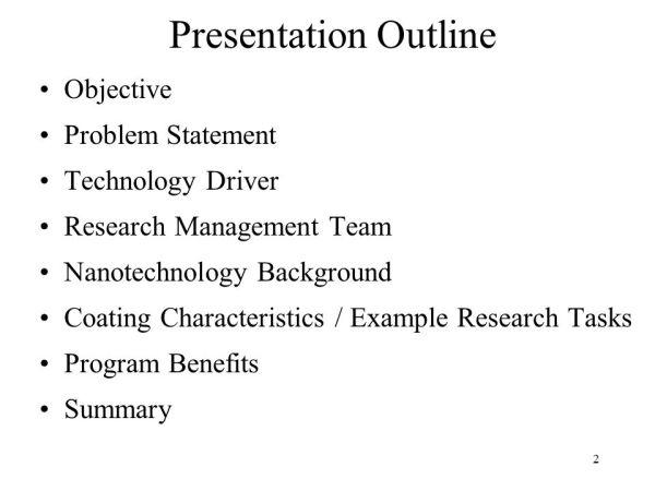 SMART COATINGS MATERIEL PROGRAM ppt video online download