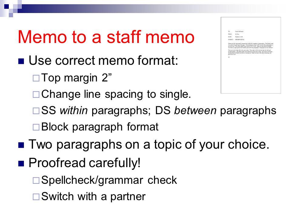 standard memo format - Boat.jeremyeaton.co