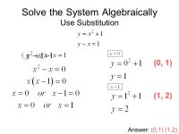 Solving Systems Of Equations Algebraically Worksheet ...