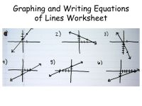 Graphing and Writing Equations of Lines Worksheet - ppt ...