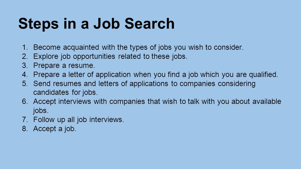 how to prepare the resumes