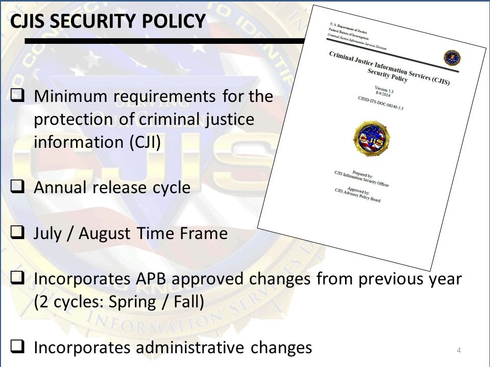 Cjis Security Policy 52