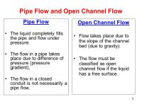 Water Flow in Open Channels