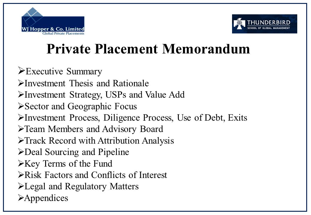 Placement Fee Agreement Sample
