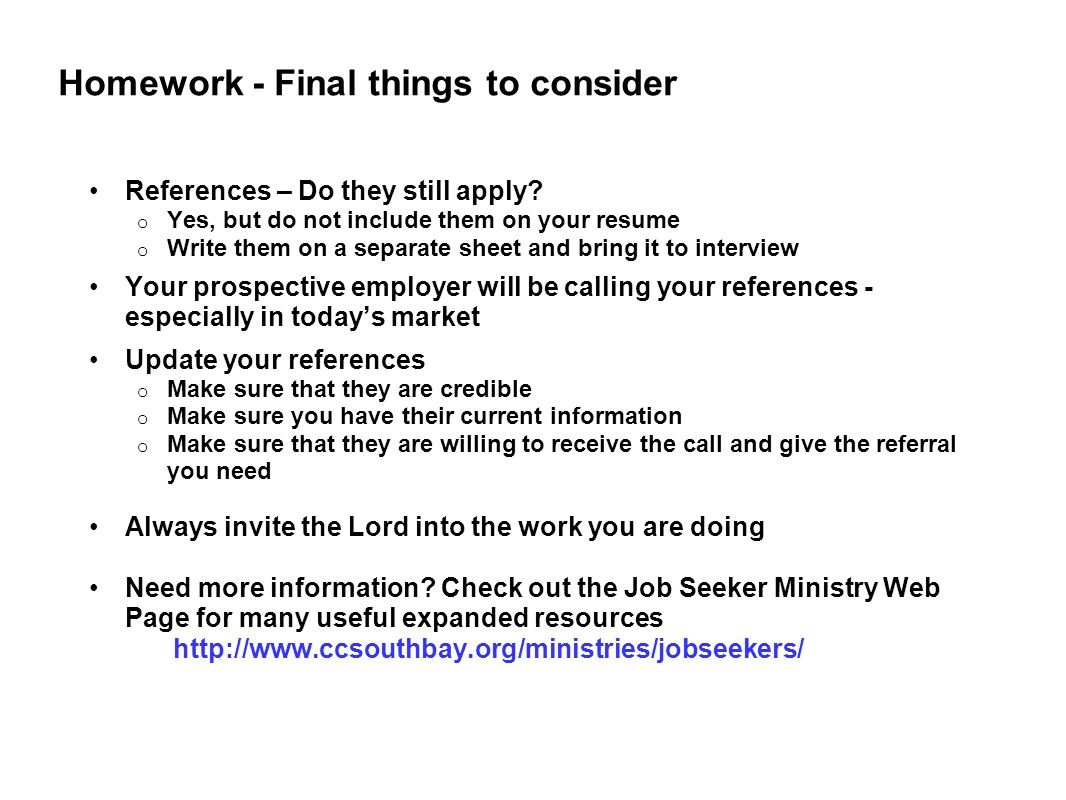Things Not To Do On A Resume Calvary Chapel South Bay Ppt Video Online Download