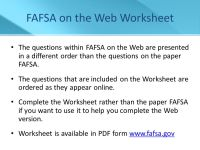Financial Aid for College - ppt download