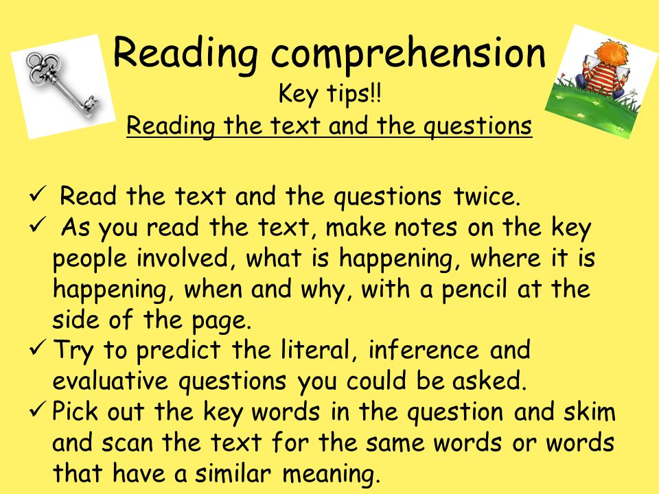 Reading Comprehension  Ppt Download