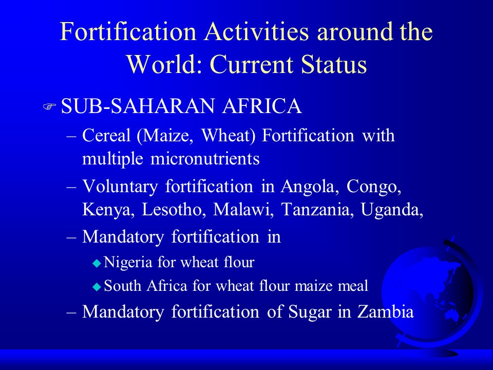 Image result for fortified food in nigeria, tanzania