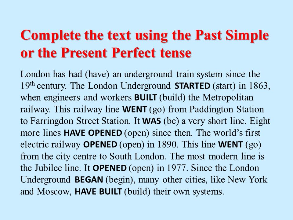 Present Perfect  Ppt Download