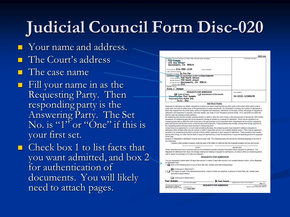 ... Introduction To Written Discovery   Ppt Video Online Download   Judicial  Council Form Complaint ...  Judicial Council Form Complaint