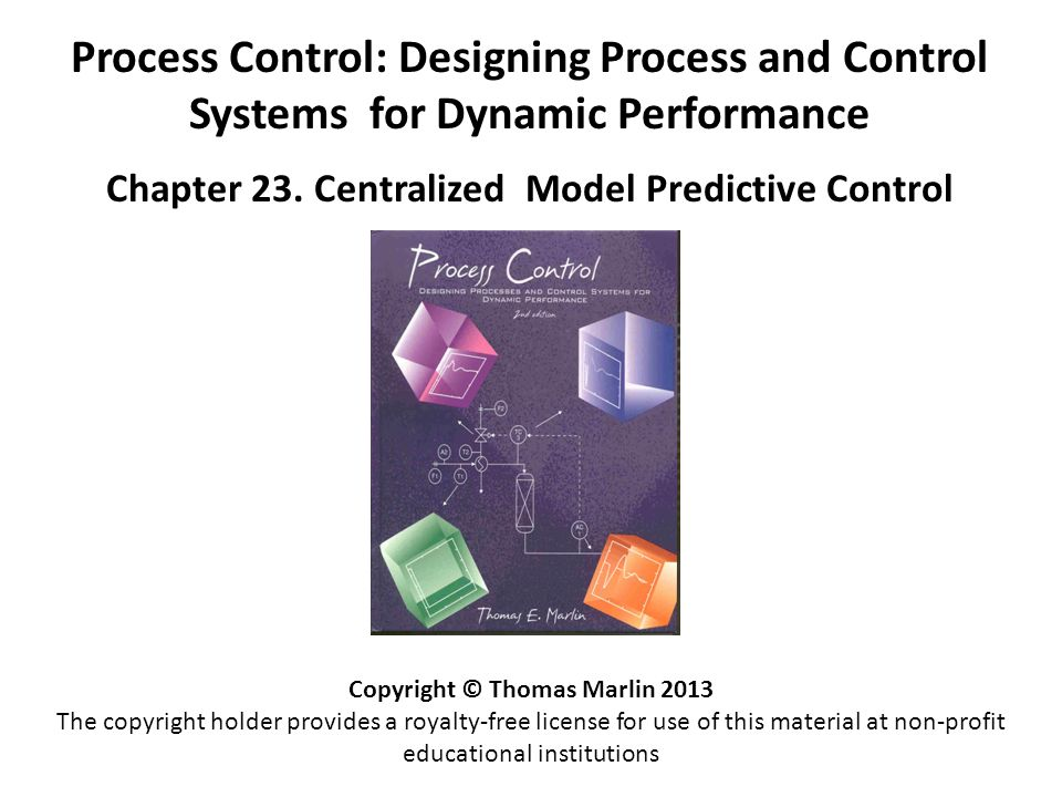Chapter 23 Centralized Model Predictive Control  ppt video online download