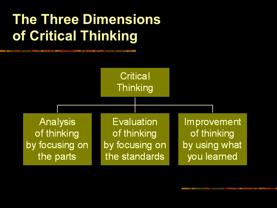 Critical Thinking Elements Of Reasoning