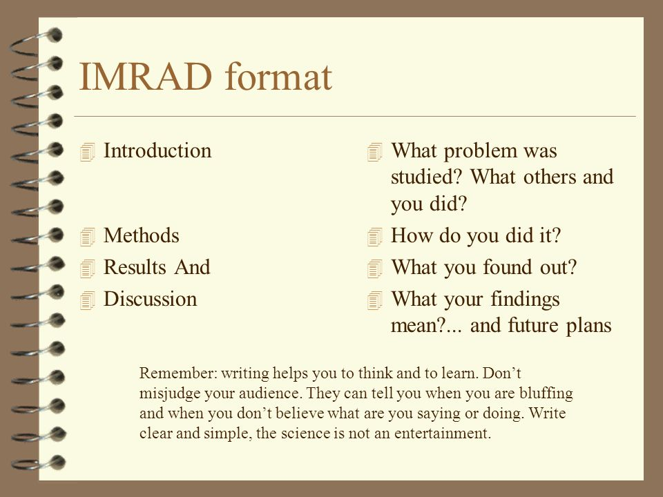 Imrad Format Research Paper Example