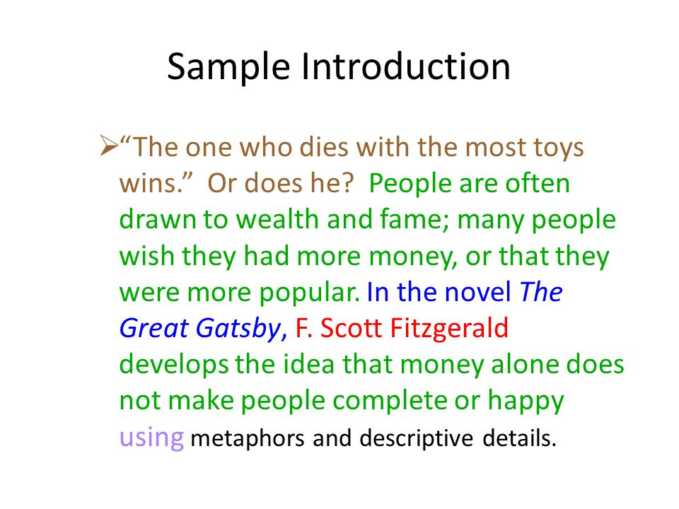 Writing The Literary Analysis Essay Ppt Video Online