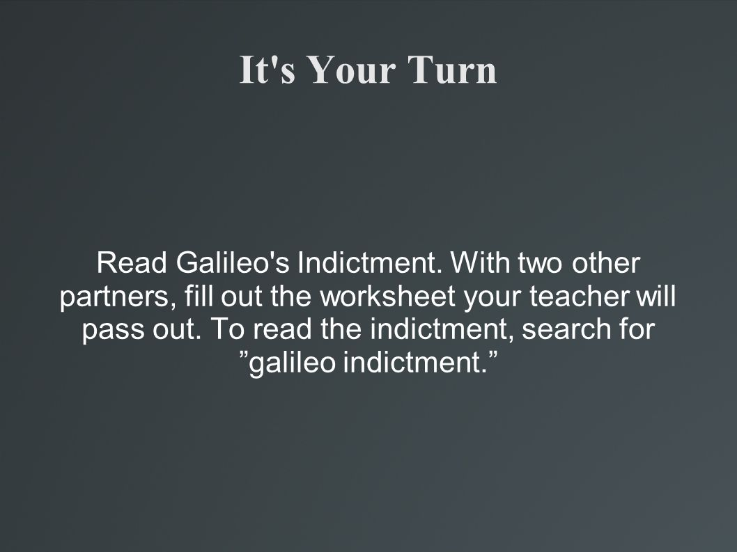 Galileo Galilei Theory Trial And Tribulations