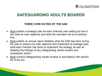 THE CARE ACT 2014 Safeguarding adults at risk of abuse or ...