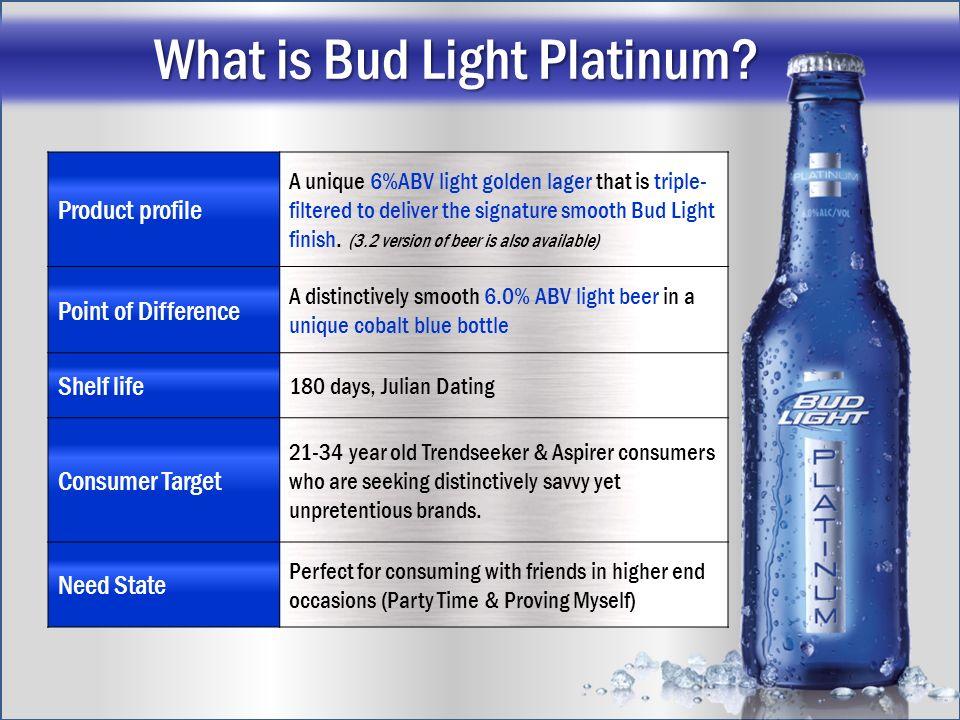 Superior Abv Bud Light Platinum Centralroots Com