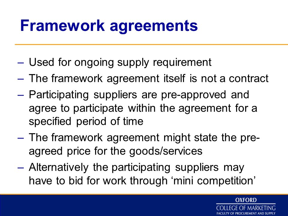 Framework Agreement Supply Of Goods : Realpedia.Co