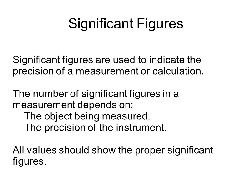 Measurements Any Measured Value Consists Of Two Parts