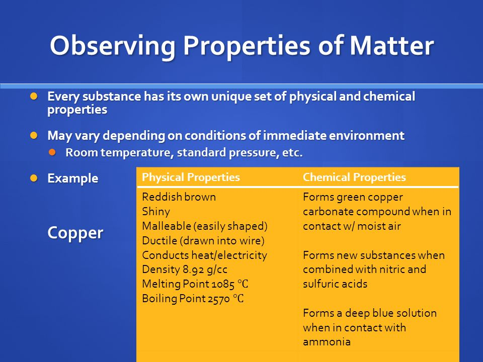 Matter Properties And Changes Ppt Video Online Download