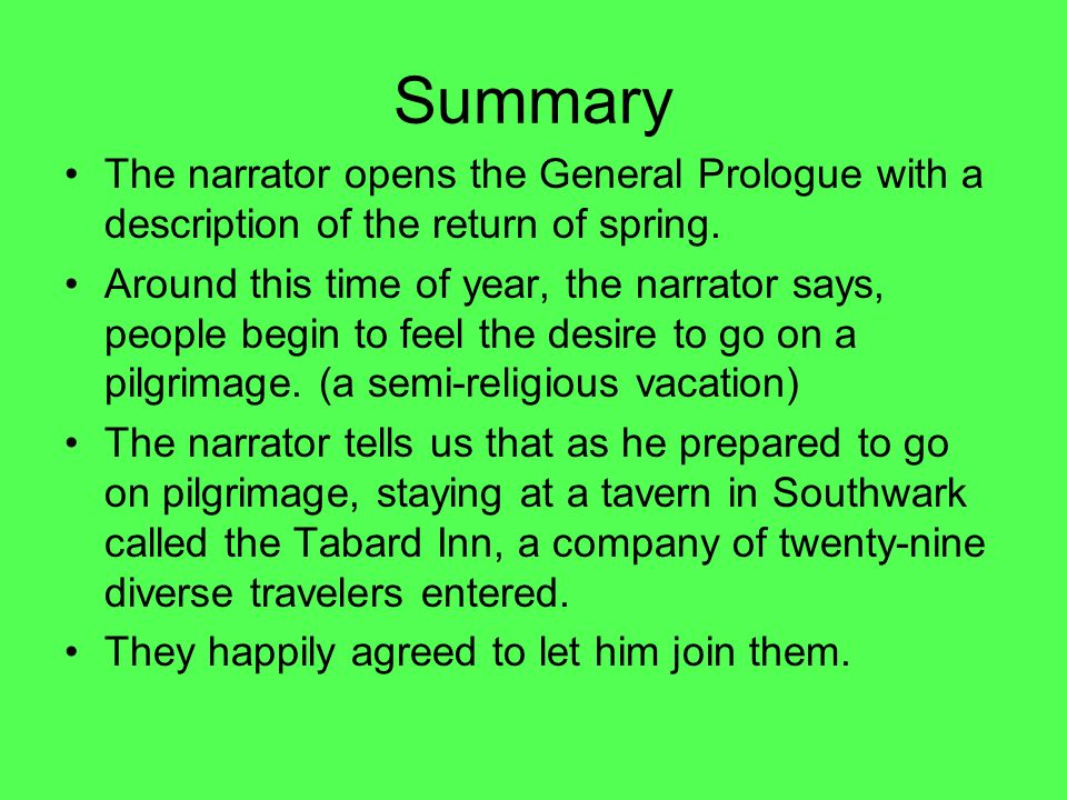 The Canterbury Tales General Prologue Introduction  Ppt