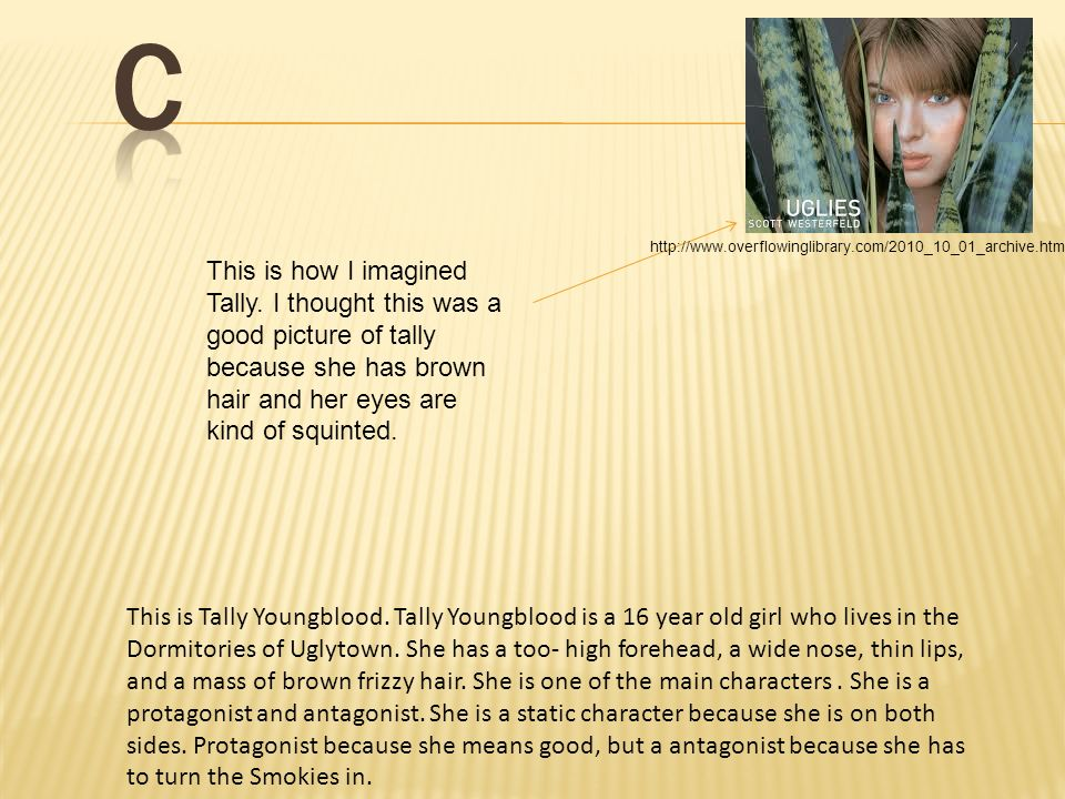 Characters Characters C This Is How I Imagined Tally I Thought