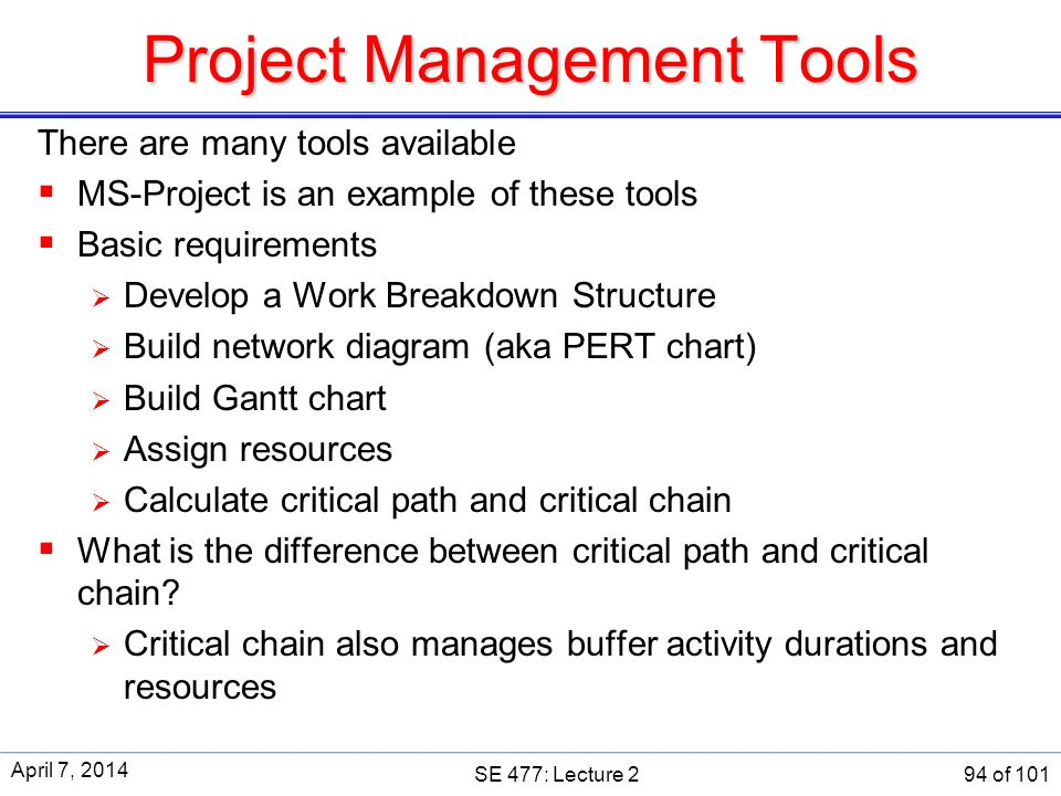 SE 477 Software And Systems Project Management Ppt Download
