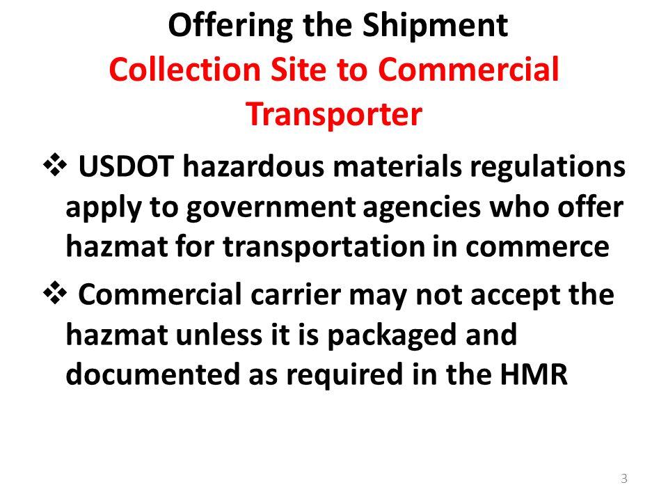 HHW and VSQG Annual Update- DOT Hazardous Materials