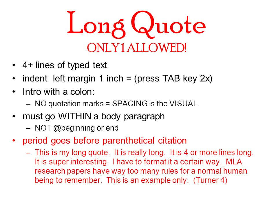 The Term Paper MLA Style Ppt Video Online Download