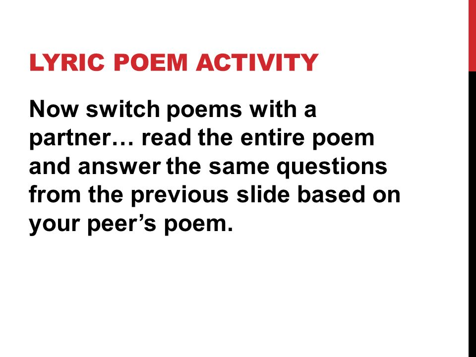 Poetry Unit Form and Structure Diction and Word Choice