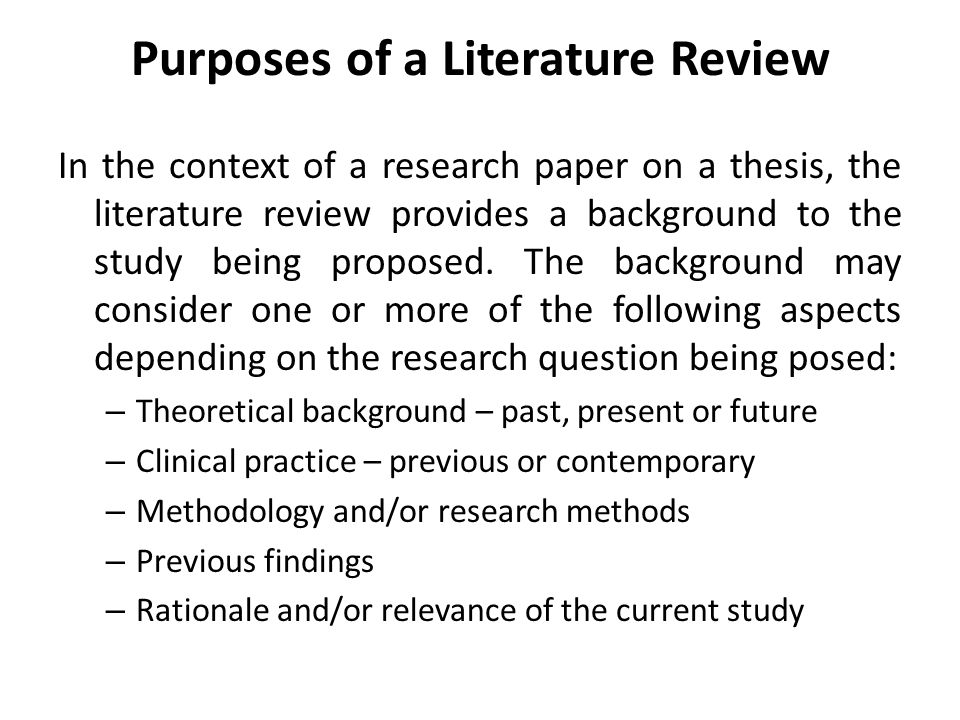 Literature review and theoretical background / www