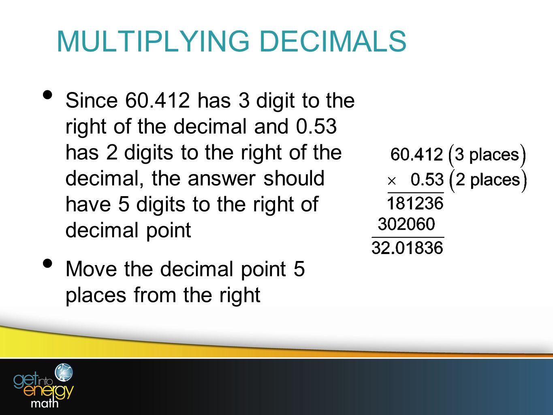 Presentation 6 Decimal Fractions
