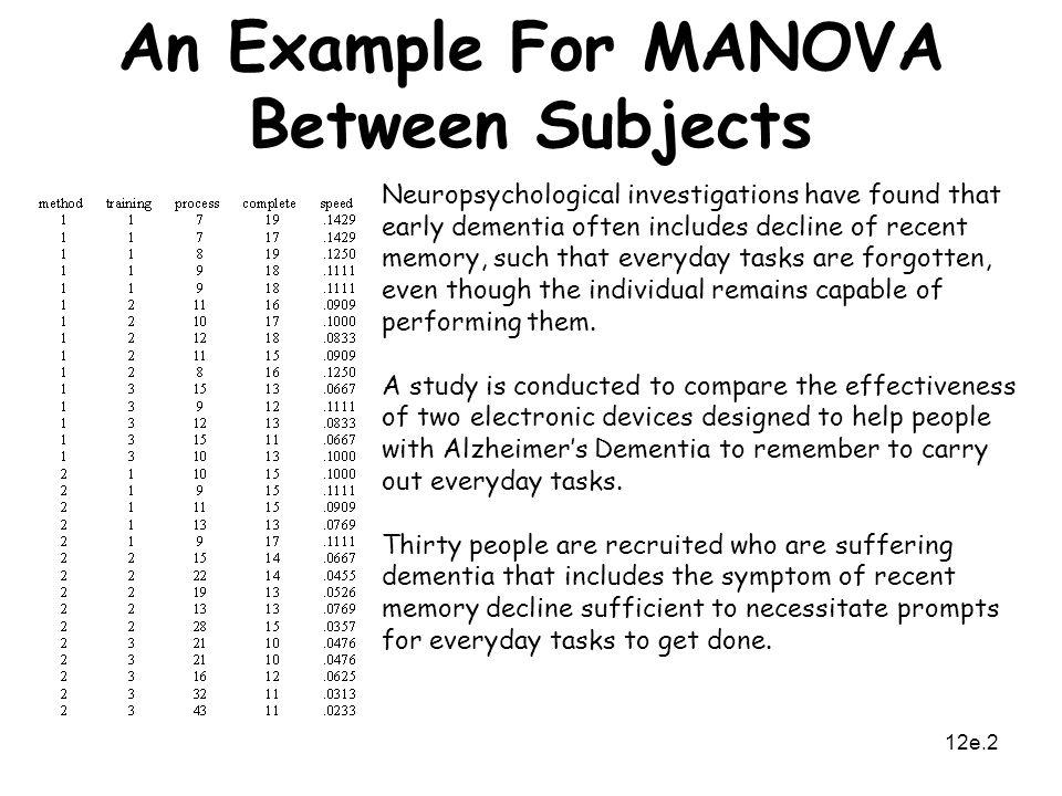 MANOVA Between Subjects Ppt Video Online Download