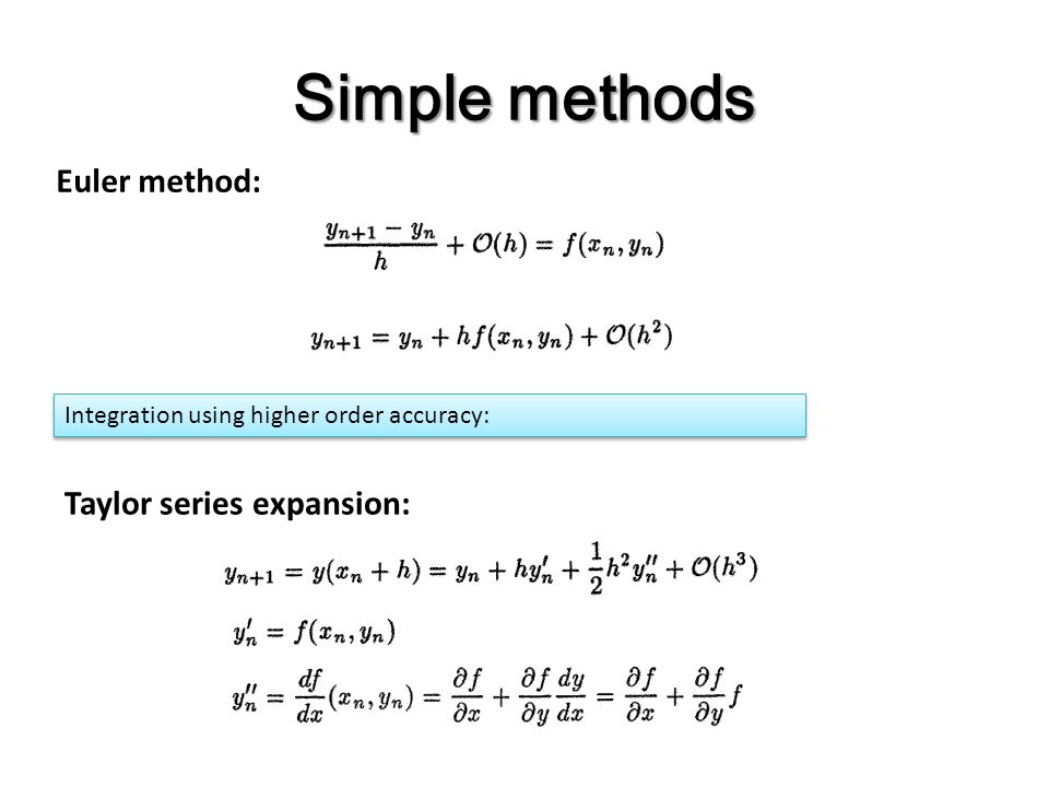 Computational Physics Differential Equations  Ppt Video Online Download