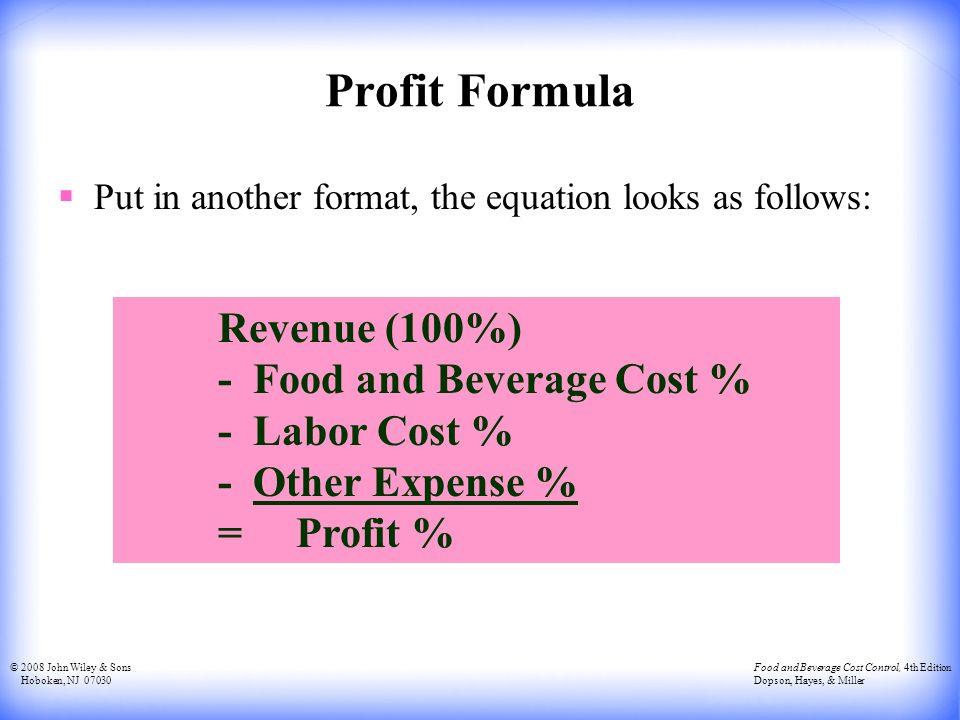 loss profit formula