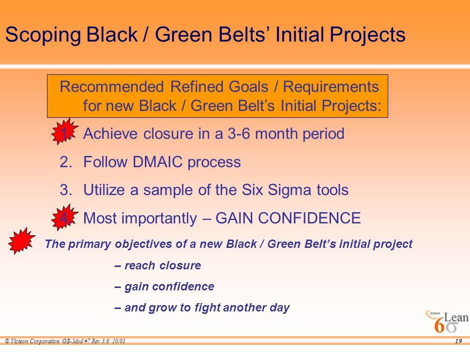 Six Sigma Green Belt Project Examples Ppt - Resume Examples