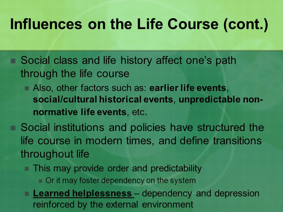 socialization through life course