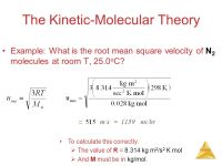 Kinetic Molecular Theory Worksheet - wiildcreative