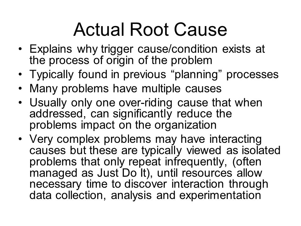 Key Elements for Effective Root Cause Analysis & Problem