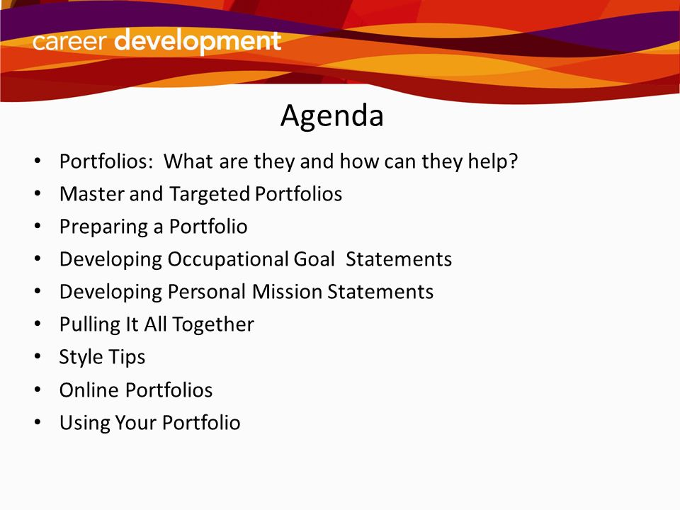 Building A Career Portfolio Ppt Download