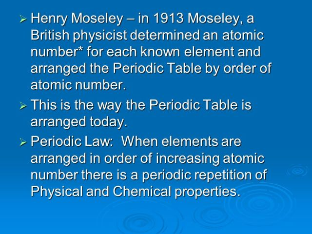 Who arranged the periodic table in order of increasing atomic chapter 4 the periodic table ppt online urtaz Images