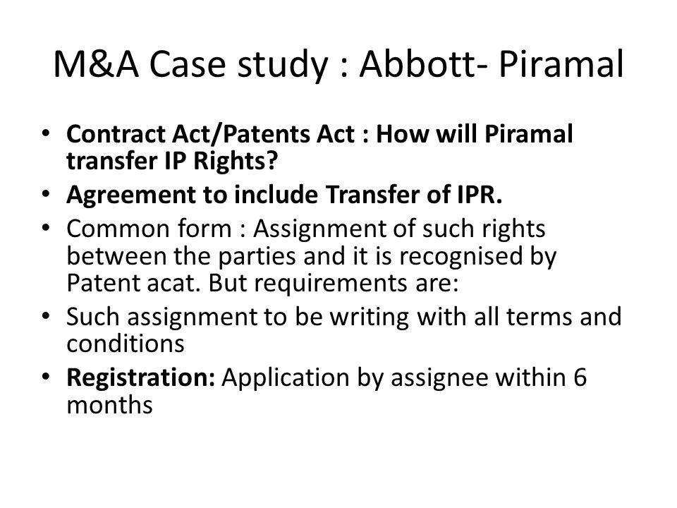 M&A Case Study :3 ABBOTT -PIRAMAL. - ppt video online download