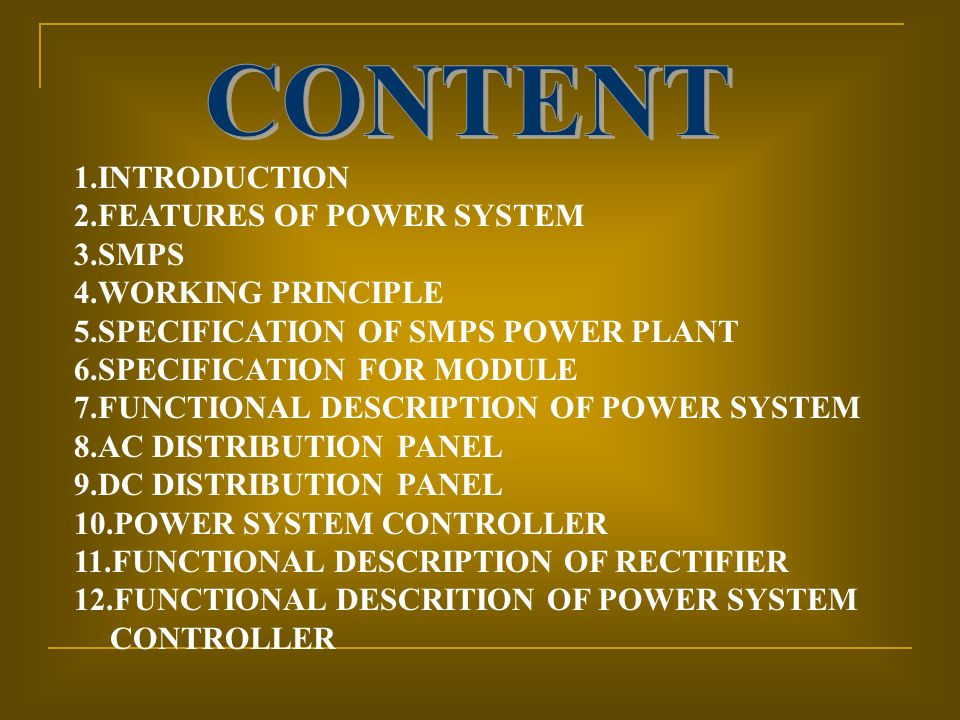 Power Plant Used In Telecom  Ppt Video Online Download