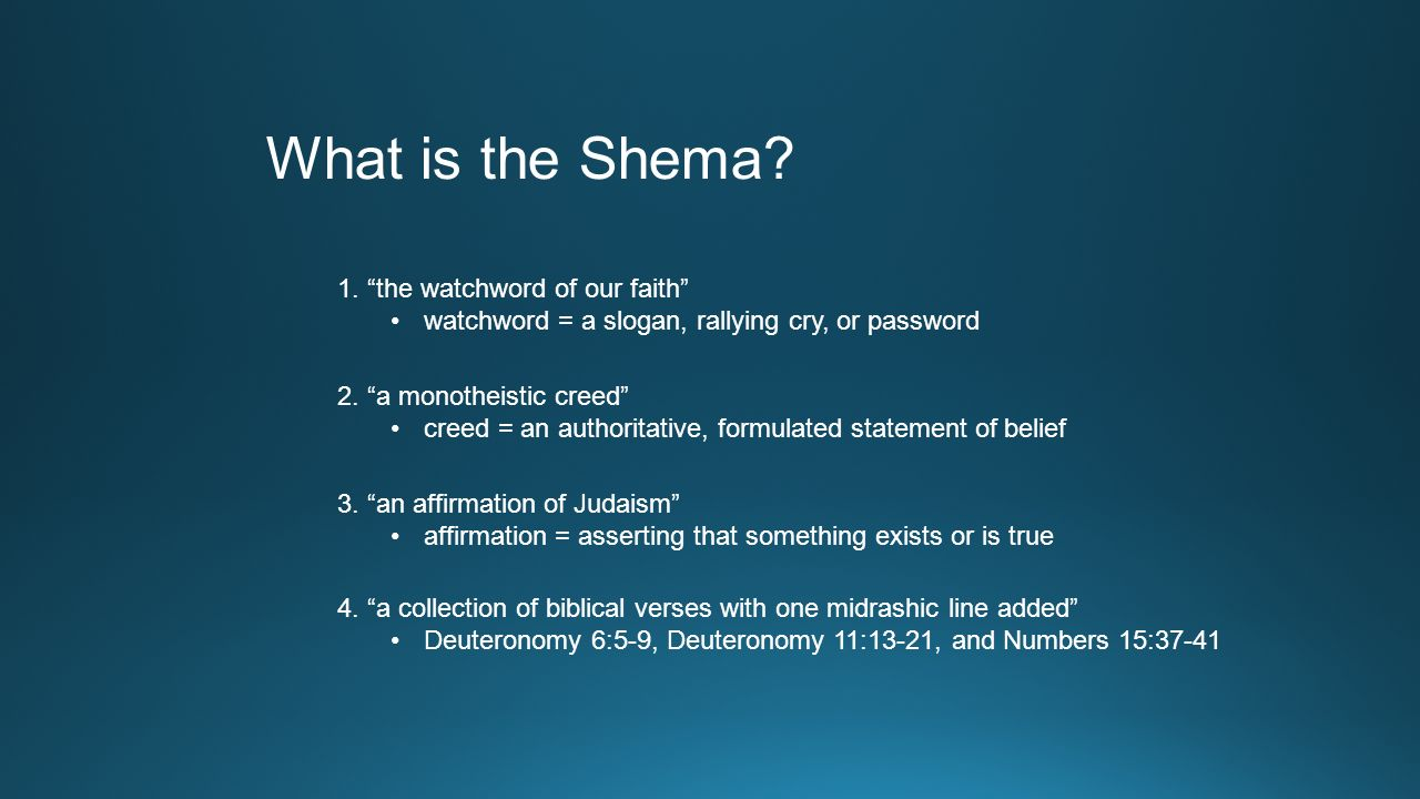 The Shema and Its Blessings  ppt download