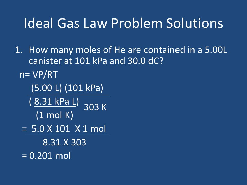 Ideal Gas Law Units