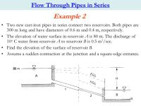 CHAPTER 2: Flow through single &combined Pipelines - ppt ...