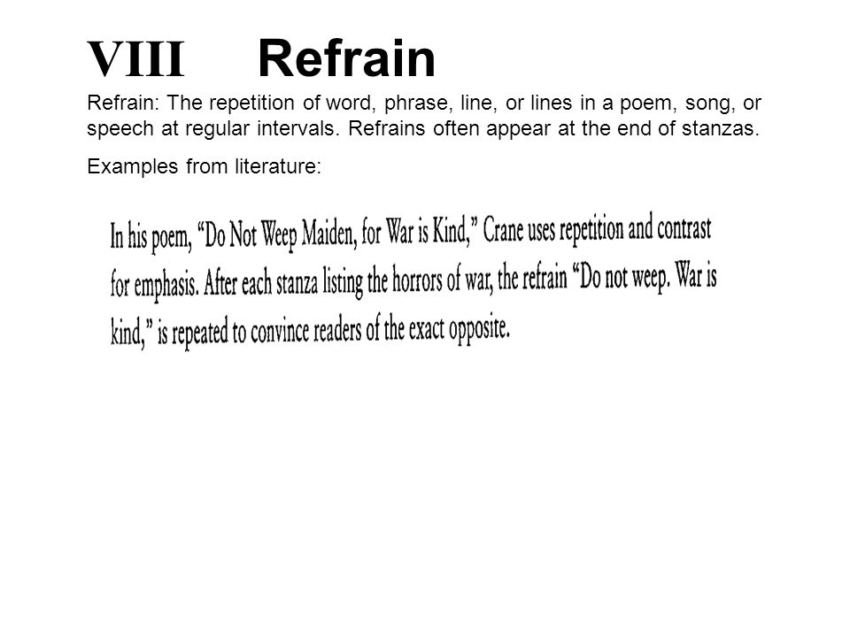 Examples Literature Refrain Images