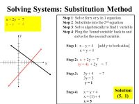 Algebra Solve For X And Y Two Equations