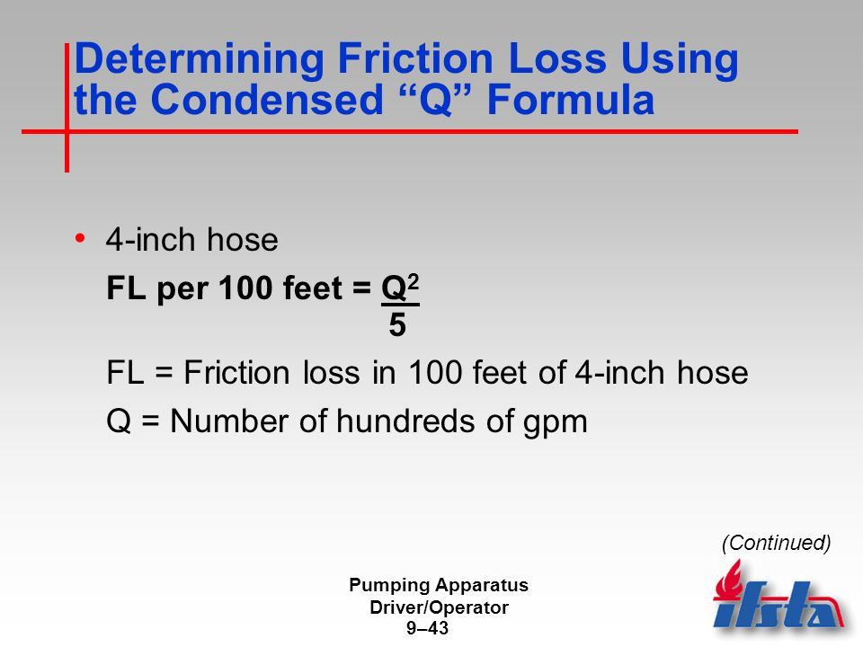 Fire Hose Friction Loss Formula - Listitdallas