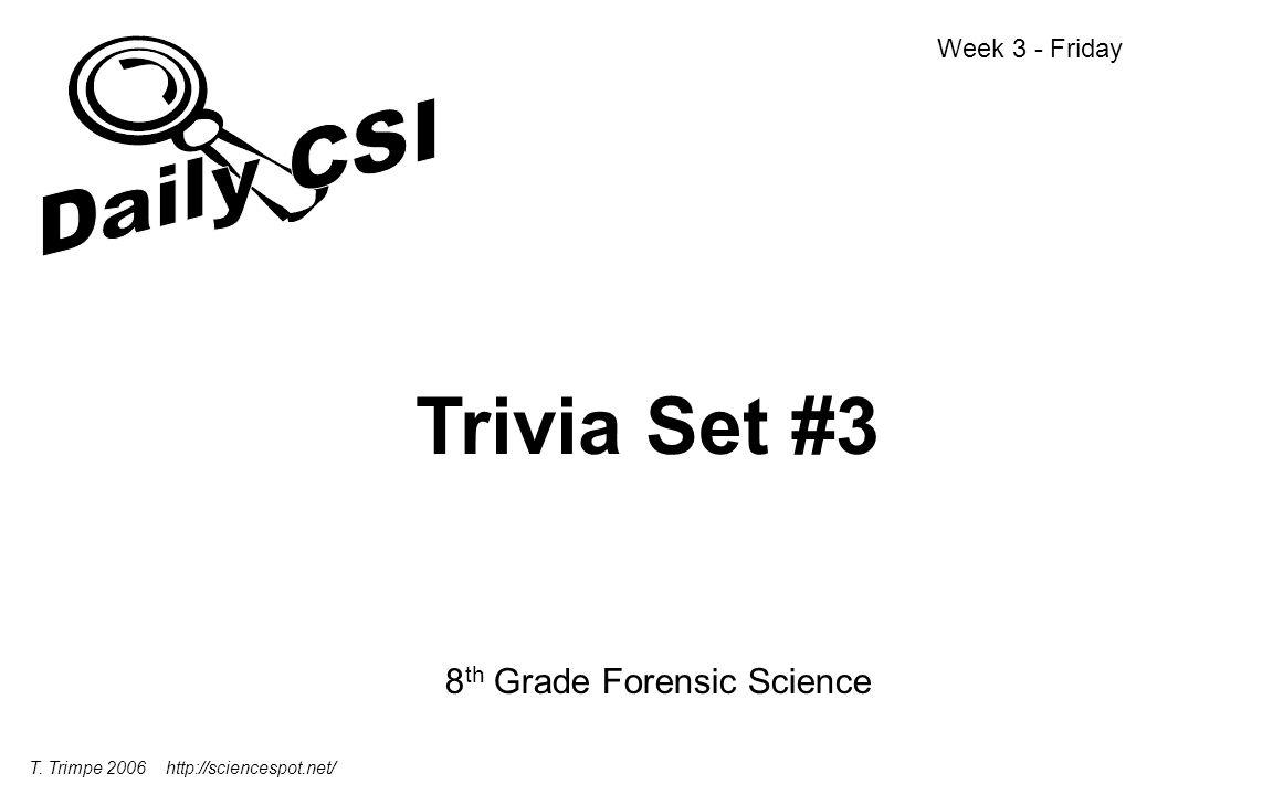 Daily CSI Week 3 Monday Wednesday Friday Tuesday Thursday